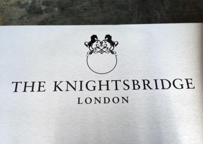 Stainless Steel Plaque for Knightsbridge Appartments