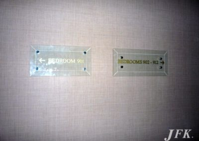 Glass Plaque for Le Meridien