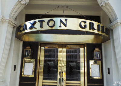 Lettering & Fascias for Caxton Grill Restaurant