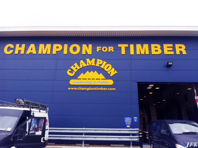 0595c187a4 Lettering & Fascias for Champion Timber - JFK Complete Sign Service