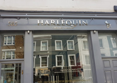 Lettering & Fascias for Harlequin London