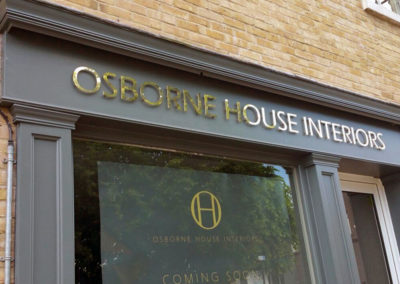 Lettering & Fascias for Osborne House Interiors