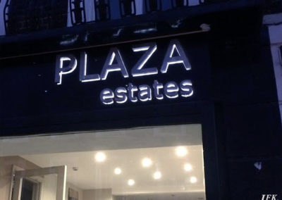 Lettering & Fascias for Plaza Estates