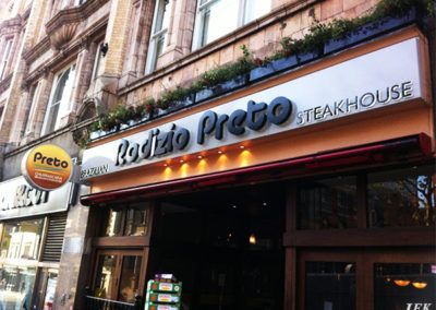 Lettering & Fascias for Preto Brazilian Steakhouse