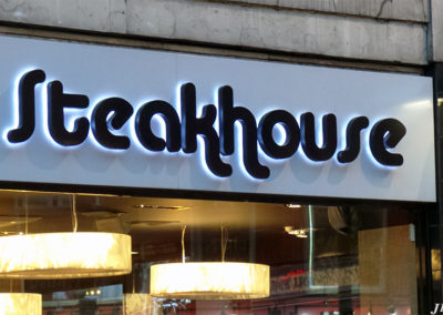 Lettering & Fascias for Preto Steakhouse Restaurant