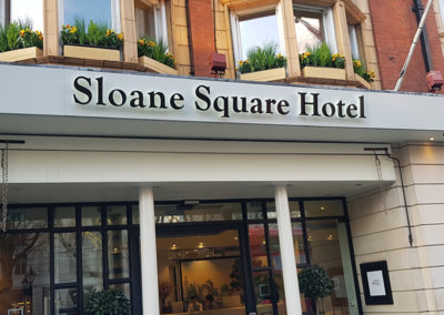 Lettering & Fascias for Sloane Square Hotel
