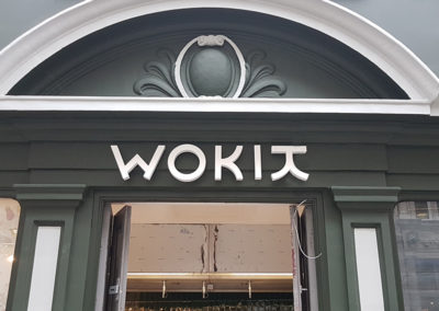 Lettering & Fascias for Wokit