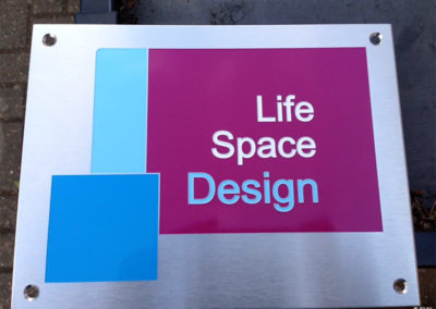 Stainless Steel Plaque for Life Space Design