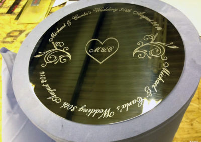 Brass Plaque for M & C Wedding