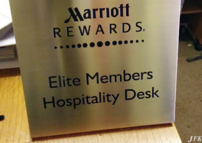 Brass Plaque for Marriot County Hall Hotel