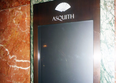 Menu Display Case for Asquith Restaurant