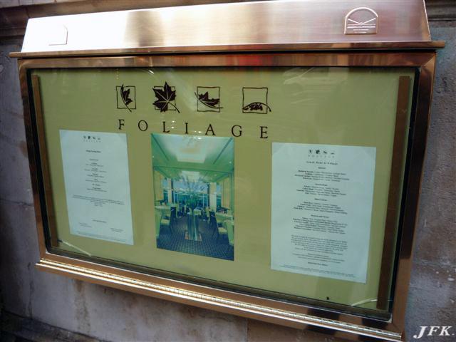 Menu Display Case for Foliage Restaurant