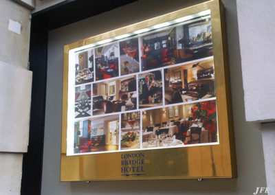Menu Display Case for London Bridge Hotel