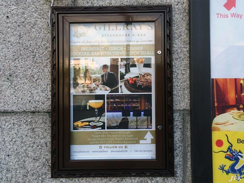 Menu Display Case for Marriot Hotel