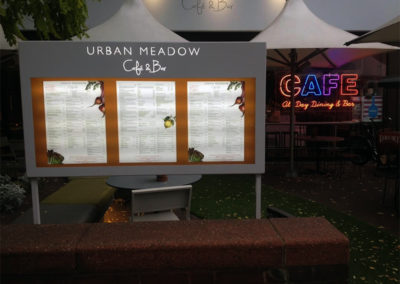 Menu Display Case for Urban Meadow Café