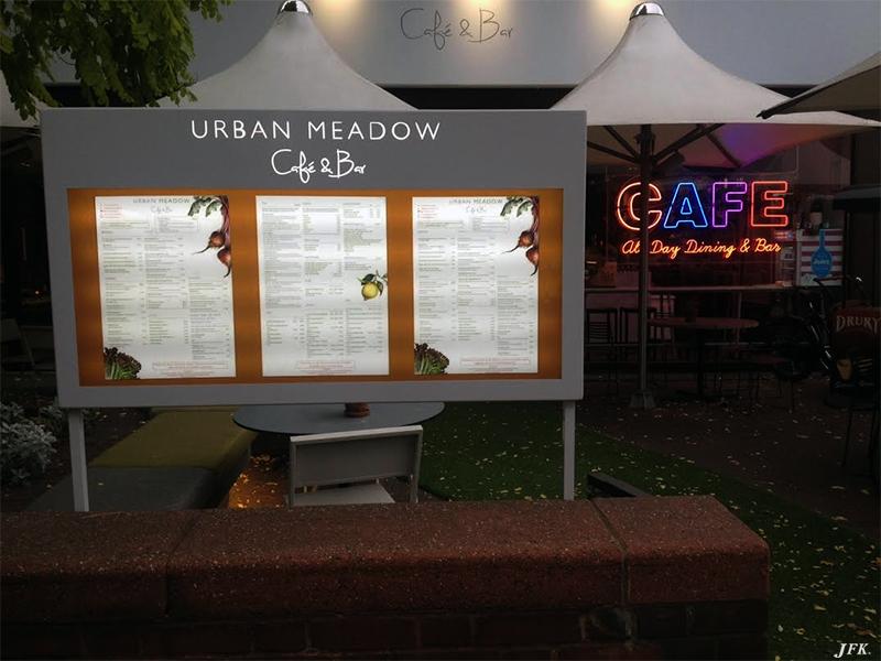 Menu Display Case for Urban Meadow Café