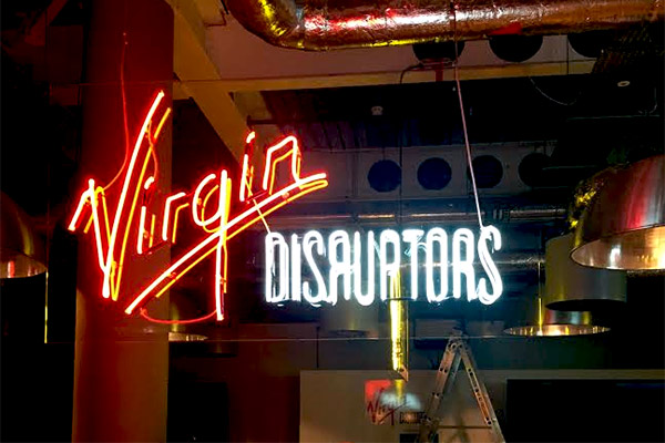 Neon Signs for Virgin Disruptors