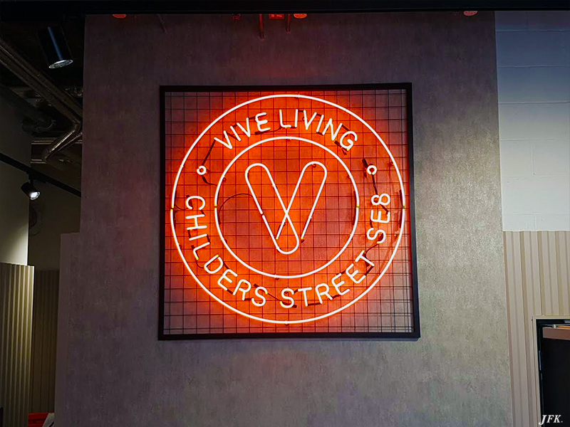 Neon Signs for Vive Living
