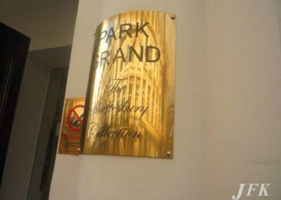 Brass Plaque for Park Grand