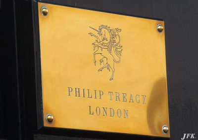 Brass Plaque for Phillip Treacy