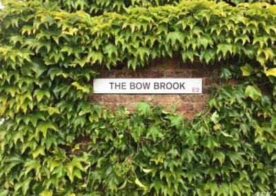 Aluminium Plaque for Bow Brook