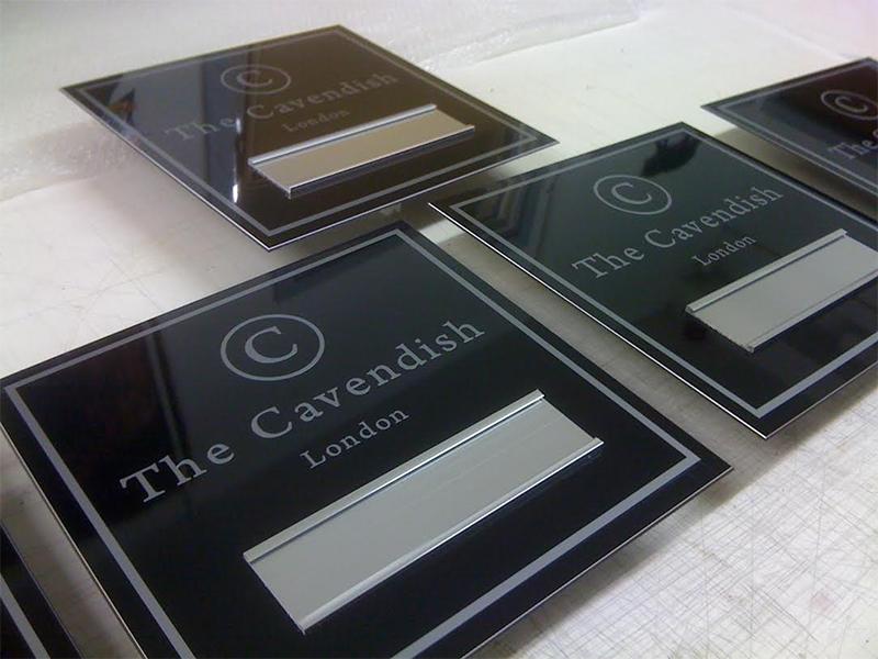 Aluminium Plaque for Cavendish Hotel