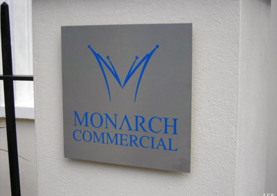 Aluminium Plaque for Monarch Commercial
