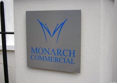 Aluminium Plaque for Monarch Commercial