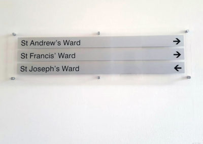 Plaques for St John & Elizabeth Hospital