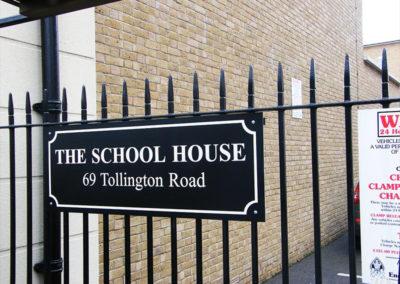 Aluminium Plaque for The School House