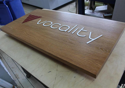 Wooden Signage for Vocality