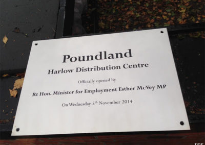 Stainless Steel Plaque for Poundland