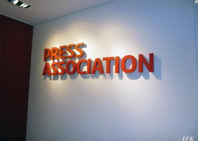 Built Up Letters for Press Association