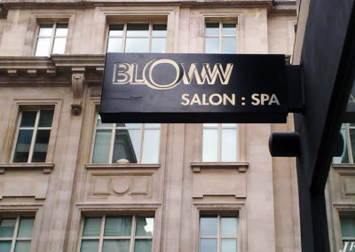 Projecting Signs for Bloww Hair Salon
