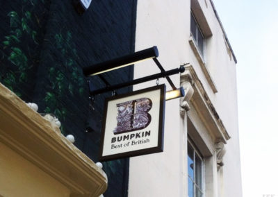 Projecting Signs for Bumpkin Restaurant