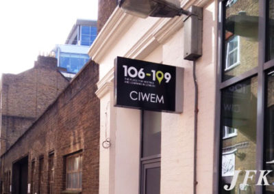 Projecting Signs for Ciwem