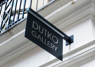 Projecting Signs for Dutko Gallery