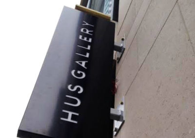 Projecting Signs for Hus Gallery