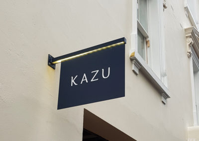 Projecting Signs for Kazu Restaurant