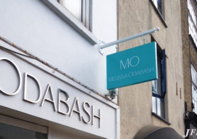 Projecting Signs for Melissa Obadash