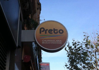 Projecting Signs for Preto Brazilian Steakhouse