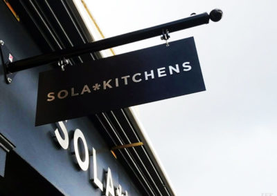 Projecting Signs for Sola Kitchens