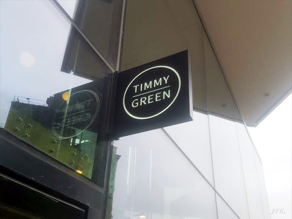 Projecting Signs for Timmy Green