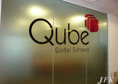 Vinyl Signage for Qube