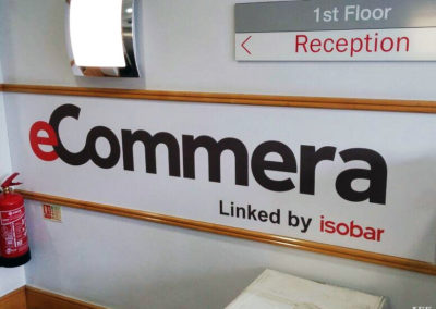 Reception Sign for Ecommera