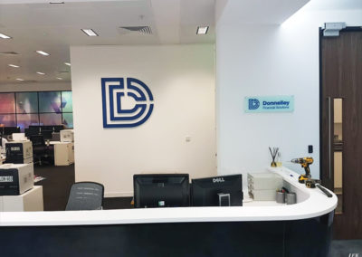 Reception Signs for Donnoly Financial