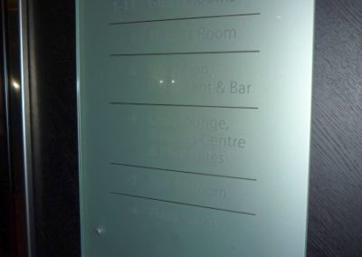 Glass Plaque for Riverbank Hotel