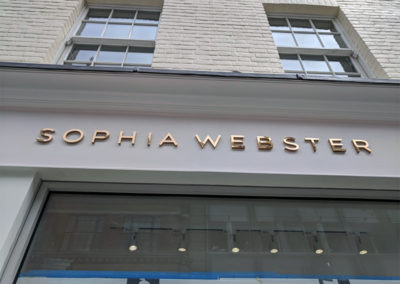 Built Up Letters for Sophia Webster