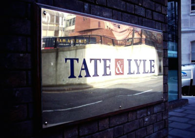 Brass Plaque for Tate &Amp; Lyle