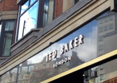 Built Up Letters for Ted Baker